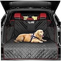 Pet Boot Liner Protector, 4 Layers Quilted Waterproof Machine Washable & Nonslip Backing with Bumper Flap Protection…