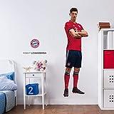 K&L Wall-Art - Wandsticker, Wandtattoo, Aufkleber, Poster selbstklebend - FC Bayern - Robert Lewandowski - 51x185 cm