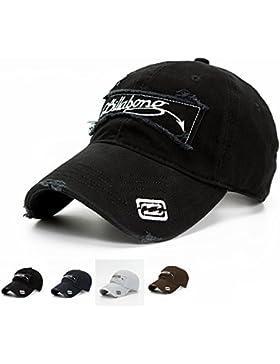Elwow Gorra de béisbol para hombre, ajustable, algodón envejecido, estilo vintage, ideal para senderismo, montañismo...