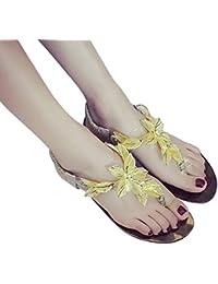 LIUXUEPING New Fashion Oberbekleidung Bow Beach Schuhe Flach Mit Neuen Sandalen Und Pantoffeln (Farbe : Gold...