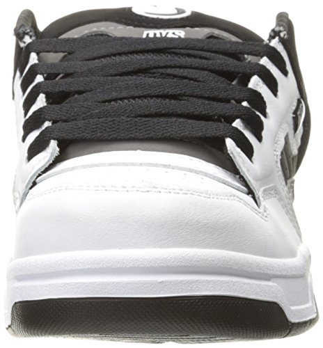 DVS - Enduro Heir, Scarpe da skateboard da uomo Black Charcoal/White Leather Nubuck
