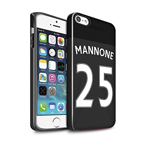 Offiziell Sunderland AFC Hülle / Glanz Harten Stoßfest Case für Apple iPhone 5/5S / Pack 24pcs Muster / SAFC Trikot Away 15/16 Kollektion Mannone