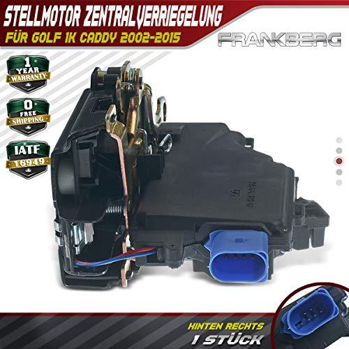 Türschloss Zentralverriegelung Hinten Rechts für Golf V Toledo III Octavia II Caddy III Jetta Touran Touareg 2002-2015 7L0839016