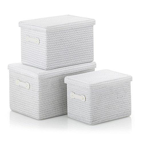 Kela 21672 Korb-Set 3tlg, Unterschiedliche Größen, PP-Kunststoff, Rimossa, Weiß
