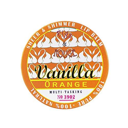 Figs & Rouge Baume pour les Lèvres Parfum Vanilla Orange Boîte Métal 17 ml
