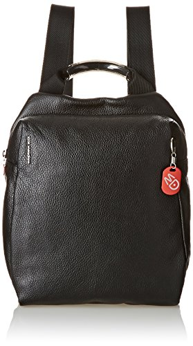Mandarina DuckMELLOW LEATHER TRACOLLA BLACK - Borsa a Zainetto Donna Nero (Nero (nero))