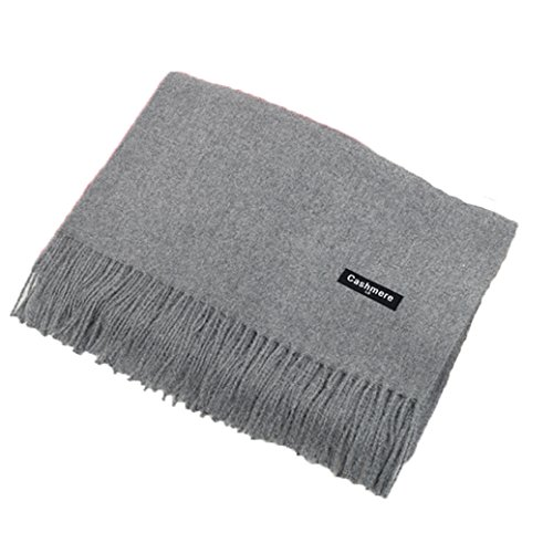 Luxus Große Super Weiche Kaschmir Schal grau
