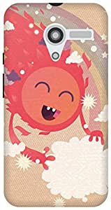 The Racoon Lean printed designer hard back mobile phone case cover for Moto X (1st Gen). (Happy Sun)
