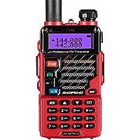 Baofeng UV-5R plus Qualette Talkie-Walkie VHF/UHF 2 m/70 cm Radio (Rouge)