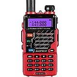 Baofeng UV-5R Plus Ricetrasmittente 2m/70cm Walkie Talkie professionale VHF/UHF, Dimensioni Ridotte, Display e Tastiera Alfanumerica (Rosso)