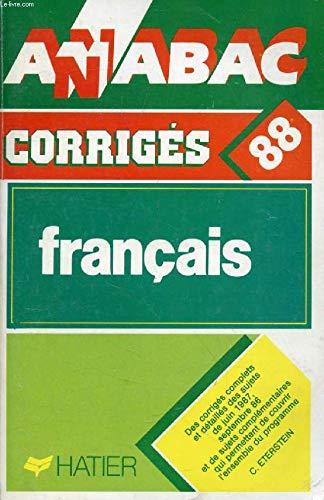Annabac 1988, BAC Français corrigés des sujets de 1987
