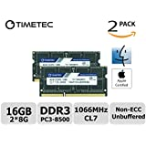 Timetec Hynix IC Apple 16GB Kit (2x8GB) DDR3 PC3-8500 1066MHz memory upgrade for MacBook 13-inch Mid 2010, MacBook Pro 13-inch Mid 2010, iMac 27-inch Late 2009, Mac Mini Mid 2010/Server (16GB Kit (2x8GB))