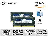 Timetec Hynix IC Apple 16GB Kit (2x8GB) DDR3 PC3-8500 1066MHz memory upgrade for MacBook 13-inch Mid 2010, MacBook Pro 13-inch Mid 2010, iMac 27-inch Late 2009, Mac Mini Mid 2010/Server (16GB Kit (2x8GB))