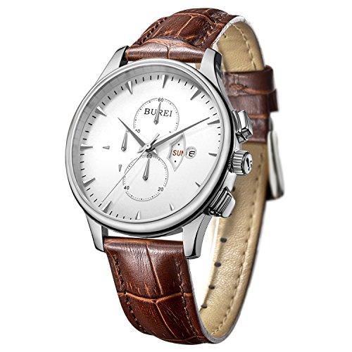 burei-herren-armbanduhr-chronograph-edelstahlgehuse-lederband-braun