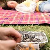 Relaxdays Einweggrill, gebrauchsfertig, 2 Standfüße, 500g Grillkohle enthalten, instant BBQ, lange Brenndauer, silber - 5