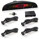 Car Rover® Car Parking Sensor Reverse Backup Radar Sound Alert + LED Display + 4 Sensors Black