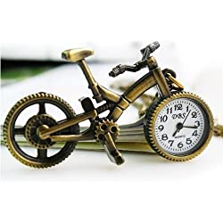 Bike Shape Vintage Quartz Pocket Watch Necklace Watch Birthday and Christmas Gifts