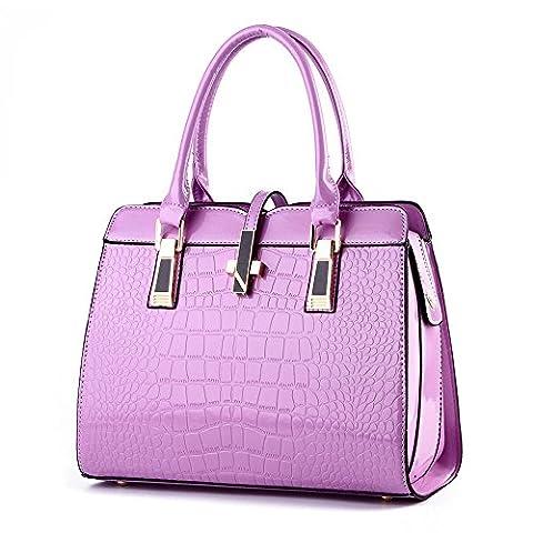 koson-man pour femme moderne en cuir PU sac vintage Sacs Poignée Supérieure Sac à main, violet (Pourpre) - KMUKHB051