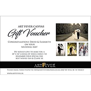 Wedding Gift Voucher, Wedding Photo on Canvas ready to hang. Printable Email of Voucher