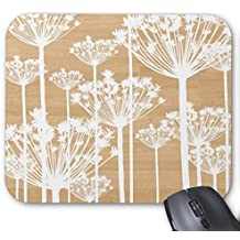 Accessory Wood Background Flowers Girly Floral Pattern Chic Mouse Pad
