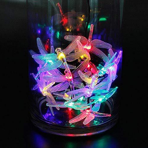 Mitlfuny Weihnachtsdekoration-Lichterkette Wasserdicht AußEnlichterkette Weihnachtsbeleuchtung Mit 20er LEDs Beleuchtung FüR Hochzeit, Party, Garten(Dragonfly)