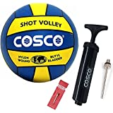 DealBindaas Cosco Hand Ball Pump with 1 Needle, 4 (Yellow and Blue)-Pack of 2