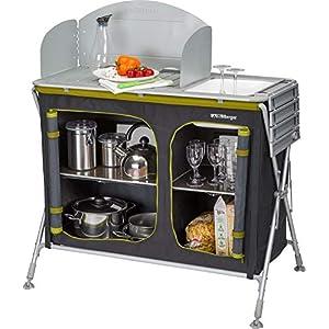 BERGER Küchenbox Pablo mit Spüle 99x85x47 cm Faltbarer Beistelltisch Alu Faltschrank Küchenschrank