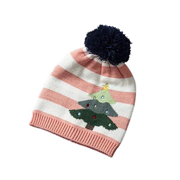 IJKLMNOP Sombreros navideños, niños pequeños y medianos, Sombreros de Punto, Sombreros a Rayas 3