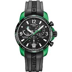 Certina Reloj de hombre cuarzo 42mm correa de goma color negro C0016399705703