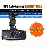 GPS Autokamera Full HD (1080p) CREATONE CTN-DVR2000 mit G-Sensor, Bewegungserkennung, Nachtsicht und Autoplay / Datenrekorder / Überwachungskamera / Dashcam