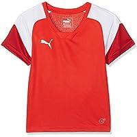 Puma Camiseta de Deporte para ni&ntilde, Infantil, Color Red White-Chili Pepper, Tamaño 140