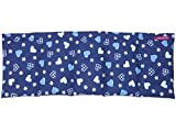 Körnerkissen Dinkelkissen Wärmekissen Herzen blau 50x20cm 100% Baumwolle