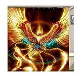 Beydodo Badvorhang Vintage 150x200 Phoenix 3D Duschvorhang Antischimmel