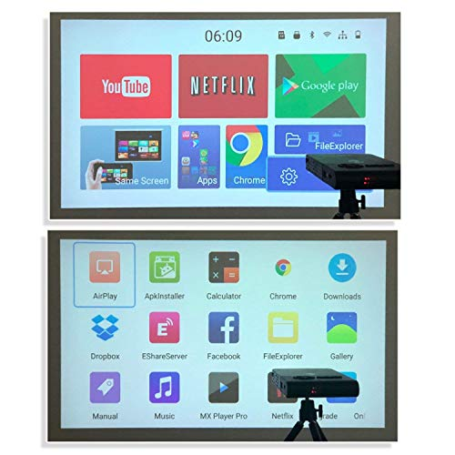OTHA Smart Mini Projector  Android Portable LED Projectors Built in 5000mAh Battery  Wifi Wireless Home Cinema Support Keystone Correction  C2 8G