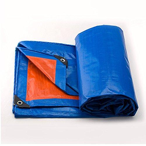 DYFYMXOutdoor Ausrüstung Gepolsterte Wasserdichte Plane regendichte Sonnenschutz Plane LKW-Plane im Freien Schatten staubdicht Winddicht blau + Orange @ (Farbe : Blue+orange, größe : 4x5M)