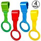 4pcs Anelli Lettino, PAMIYO Anelli per Paracolpi per Bambino Esercitarsi a Stare in Piedi Allenamento in Equilibrio - Rosso Blu Verde Giallo