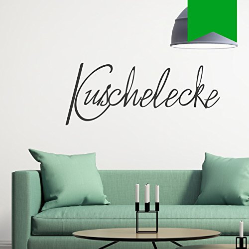 """Wandkings Wandtattoo """"Kuschelecke"""" 80 x 32 cm gelbgrün - erhältlich in 33 Farben"""