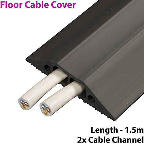 Robustes Kabelschutzrohr für den Boden aus Gummi-1,5m x 83mm mit Dualem, Innerem Kabelkanal -Ideal für Zuhause, Büro, Lager
