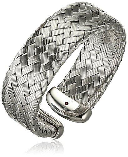 Il quinto anno di Roberto Coin-Braccialetto-polsino in argento con (Roberto Coin Designer Bracciale Designer)