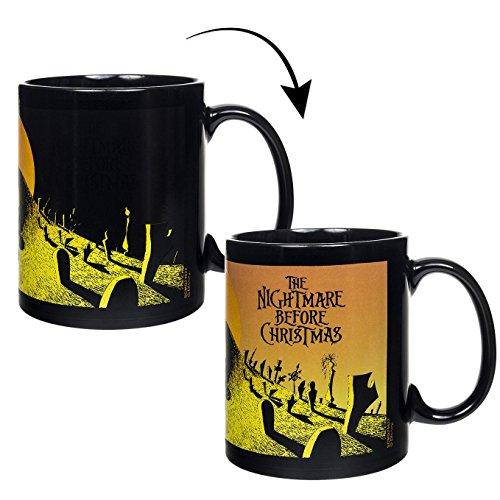istmas Thermoeffekt-Tasse Graveyard - schwarz, Bedruckt, aus Keramik, Fassungsvermögen ca. 320 ml. ()