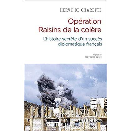 Opération Raisins de la colère. L'histoire secrète d'un succès diplomatique français (Sciences politiques et relations internationales)