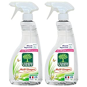 limpiar fosa séptica: L'Arbre Vert Espray de limpieza multiusos, 740 ml, lote de 2