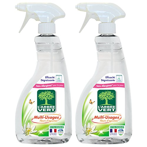 L'Arbre Vert - Spray Nettoyant Multi Usage - 740 ml - Lot de 2