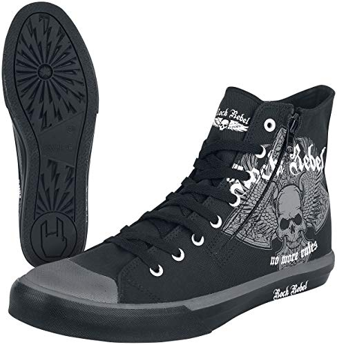Rock Rebel by EMP Walk The Line Deportivas Altas Negro EU36
