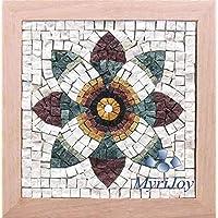 Kit d'artisanat de la mosaïque Fleur de grenade - Mosaïque de marbre - Do it yourself Mandala - Idées cadeaux DIY – mosaïque art mural
