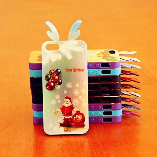 Coque iPhone 6/6S , iNenk® Bande dessinée de Noël Creative Trade Ultra mince Housse de protection souple peinte TPU Mode cadeau de bonhomme de neige de Santa Joyeux Noël mignon-modèle 6 Motif 8