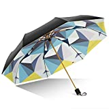 Unbekannt &Regenschirm Falten Super Sonnenschutz UV Vinyl Regenschirm Regenschirm Falten Regen Dual-Use (Farbe : A)
