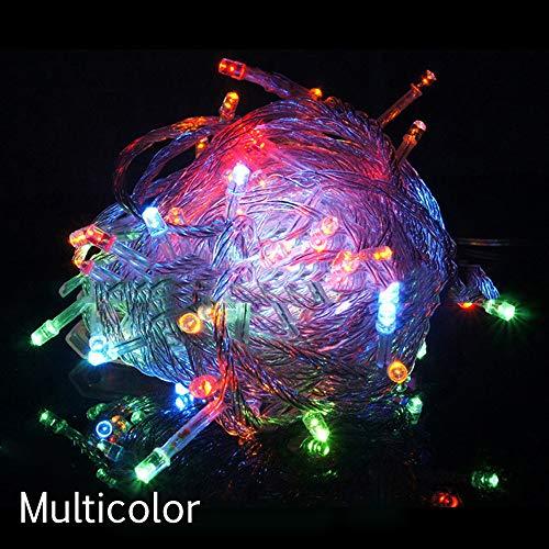 TianranRT Weihnachten Baum Fee Party Lichter Wasserdicht 8-Farben Ansteuerbar 100 LED 10M (Mehrfarbig)