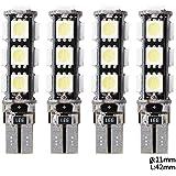 XCSOURCE 4X T10 13SMD 5050 Voiture LED Lampe Veilleuse Lumière Ampoule Blanc W5W 158 Canbus Side width MA132