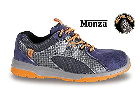 Beta 7313B 46 Suede Shoe with Nylon Mesh and PU Insert, 49 Size